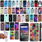 For ZTE Citrine LTE Z716G Z717VL Z716BL Cute Design TPU SILICONE Case Cover +Pen