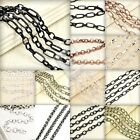 2m Unfinished Bulk Jewellery Chain Ball Twisted Curb Flat Cable Rollo Oval Woven