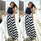 Women Summer Sleeveless Beach Boho Maxi Dress Evening Cocktail Party Sundress