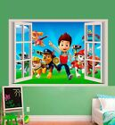 PAW PATROL 3D WALL STICKER SMASHED BEDROOM BORKEN decor  ART KIDS DECAL