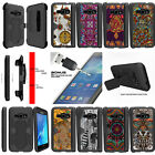 For Samsung Galaxy J1 J120 (2016) Clip Case Tribal Drawings + Tempered Glass