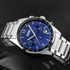 Luxury SKMEI Men's Stainless Steel Band Blue Dial Date Military Army Wrist Watch