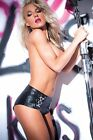 15-5402 Allure faux leather solid black pleather flat short shorts  S-XL
