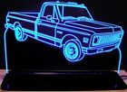 1971 Chevy Pickup C10 Edge Lit 11-13 Lighted Sign LED Plaque 71 VVD1 Made in USA