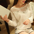 Fashion Womens Summer Long Sleeve Shirt Casual Blouse Loose Tops T Shirt USA