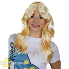 LADIES FLICK WIG 70'S STYLE BLONDE WAVY WOMENS FANCY DRESS COSTUME ACCESSORY