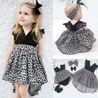 USA Kids Baby Girls Princess Pageant Wedding Party Tutu Lace Dresses Outfit Sets