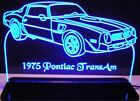 """1975 Trans AM Edge Lit 11-13"""" Lighted Led Sign Plaque 75 VVD9 Made in USA"""