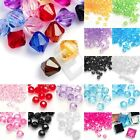 Wholesale Acrylic Bicone Spacer Beads Faceted Jewellery Making 4/8/10/12mm