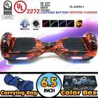 """UL 2272 6.5"""" Self Balancing 2 Wheel Electric Scooter Hoverboard LED Bluetooth"""