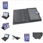 "9.7~10.5""Univeral 2in1 Wireless Bluetooth Keyboard leather case Cover for Tablet"