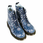 Dr Martens Women's 1460 Bandana Leather Lace Up Boot Navy / White