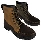 New Mens Skechers Denton Westlee Brown Leather Boot Ankle Boots Brand New In Box