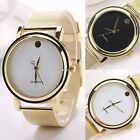 Golden Alloy Belt Wrist Watch Fashion Women's Casual Watch Elegant Round B20E