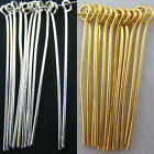 Внешний вид - Wholesale Silver Plated Gold Plated Eye Pins Needles Jewelry Findings 6 Sizes