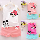 USA Toddler Kids Baby Girls T-shirt Tops+Pants/Shorts/Dress Outfits Clothes Set