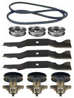 """White Outdoor ZT-50 50"""" Mower Deck Parts Kit Spindles Blades Belt FREE Shipping"""