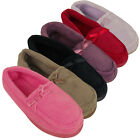 Ladies New Moccasin Luxury Slipper Moccasins Slippers Womens Size UK 3