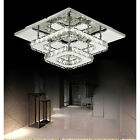 Square 30cm 36W LED Crystal chandeliers Bilayer Aisle light Ceiling lights H501H