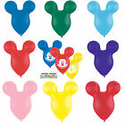 """5 x 15"""" Mousehead/Ears Shaped Qualatex Latex Balloons (Mickey Mouse Clubhouse)"""