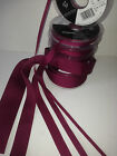 Berisfords Double Faced Satin & Grosgrain Ribbon - WINE 17 / 9360 - 3 to 50mm