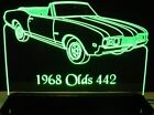 "1968 Oldsmobile 442 Conv Awesome 21"" Lighted Sign Led Pla..."