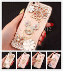 Cute Girl's Bling Crown Diamond Rhinestone Ring Clear Case Cover For Cell Phones