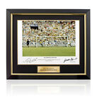 Framed Gordon Banks & Pele signed photo - The Greatest Save Ever Autograph