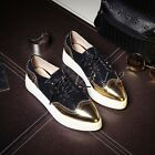 New Arrival Womens Leather Breathable Lace Up Flat Heel Ankle Boot Athestic Shoe
