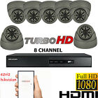 7X CCTV CAMERA SYSTEM 2.4 FULL HD 1080P 8 CHANNEL DVR HIKVISION HDMI REMOTE VIEW