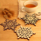 Wooden Carved Snowflake Coasters Chic Holder Coffee Tea Drinks Cup Mat Dreamed