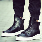 Men's High Top Breathable Sneakers Platform Lace Up Hip Hop Skateboard Shoes New