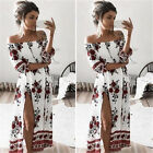 Womens Summer Boho Floral Beach Dress Evening Cocktail Party Long Maxi Dress New