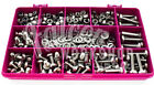 140 ASSORTED A2 STAINLESS M8 POZI PAN MACHINE SCREWS NYLOC FULL NUTS WASHERS KIT