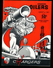 8/6 1961 Houston Oilers San Diego Chargers AFL Football Program (punched) $135.0 USD