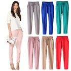 New Women Casual Chffion Harem Pants Elastic Waist Full Length Trousers UNO