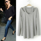 New Summer Fashion Womens T shirt Casual Long Sleeve Tops Ladies Loose Blouse