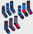 Joules Mens 3 Pack Bamboo Socks One Size (7-12) Styles Hare, Stripe Or Cockerel
