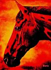 Giclee HORSE PRINT BAY Horse PRINCETON artist BETS 5 COLORS print size 14 X 18