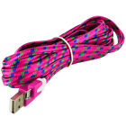 Braided Rope Micro USB Data Charger Charging Cable Long Short for Smartphones
