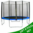 REPLACEMENT TRAMPOLINE SAFETY NET ENCLOSURE SURROUND 6FT 8FT 10FT 12FT 14FT