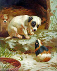 Puppy & Guinea Pig ~ Dogs, Victorian Trading Card ~ Cross Stitch Pattern