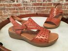 BareTraps Tan Brown Leather Jordy Perforated Sandal NEW