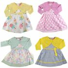 NEW BABY GIRLS SLEEVELESS SUMMER DRESS BOLERO SET OUTFIT 6-12-18-24 MONTHS