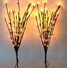 19' Willow Branch Shaped Bendable Indoor/Outdoor Decoration LED Fairy Lights