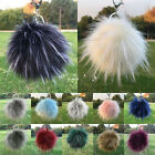 Faux Fur Keyring 13CM Pompom Ball Soft Fluffy Charm Dangle keychain 8 Colors