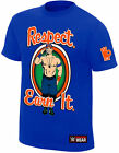 WWE JOHN CENA Respect Earn It Never Give Up OFFICIAL AUTHENTIC T-SHIRT