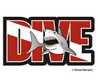 Dive Shark Decal Diver Flag Water Search and Rescue Diving SAR Vinyl Sticker EMV