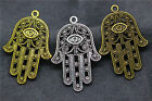 3/10Pcs Tibetan Silver Retro Hollow out Hand Charm Pendant DIY Jewelry Finding