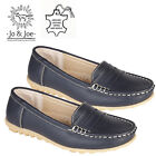 WOMENS  100% GENUINE LEATHER LADIES LOAFERS SLIP ON OFFICE WORK CASUAL SHOES UK